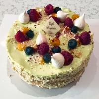 Batul Pistáciový dort s lesním ovocem - Belgické pralinky Leonidas