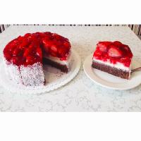 Jahodový dort - Belgické pralinky Leonidas
