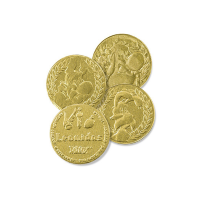 Mléčná mince Asterix - Belgické pralinky Leonidas
