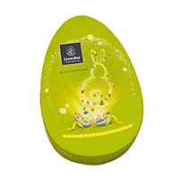 Krabička ve tvaru vejce  - Belgické pralinky Leonidas
