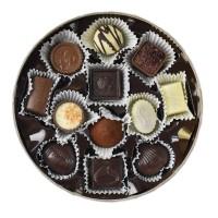 Kulatá bonboniéra Dora hnědá - Belgické pralinky Leonidas