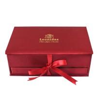 Bonboniéra Šperkovnice červená - Belgické pralinky Leonidas