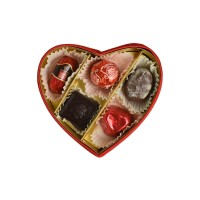 Bonboniéra srdce plyšové M - Belgické pralinky Leonidas