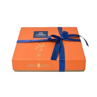 Oranžová krabička Zanzibar - Belgické pralinky Leonidas