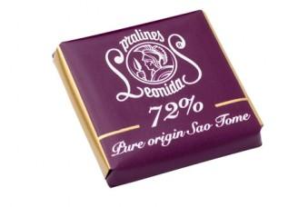 Plátek čokolády - Hořký 72% - Belgické pralinky Leonidas