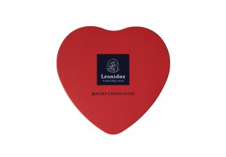Plechové srdce Leonidas - Belgické pralinky Leonidas